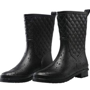Women's Black Waterproof gardening rain boots